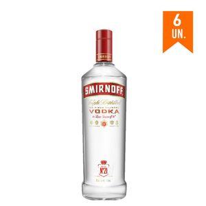 COMBO VODKA SMIRNOFF 998ml 6 unidades