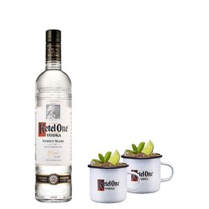 VODKA KETEL ONE - 1L + 2 Canecas Moscow Mule