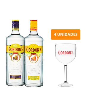 Combo Gin Gordon'S 750Ml + Gordon'S Elderflower 700Ml + 4 Taças Gordon'S