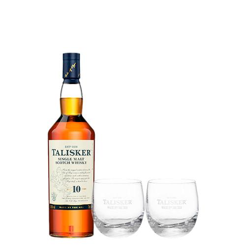 Whisky-Talisker-10-Anos-750Ml---2-Copos-De-Vidro-Talisker-300-Ml