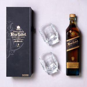 THEBAR.BOX: BOX DE JOHNNIE WALKER BLUE LABEL COM DOIS COPOS ESPECIAIS
