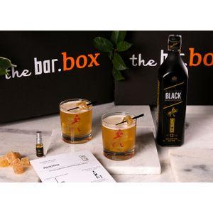 THEBAR.BOX: BOX DE PENICILLINE COM JOHNNIE WALKER BLACK LABEL EMBALAGEM COMEMORATIVA 200 ANOS