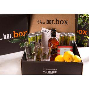THEBAR.BOX: BOX DE HIGHBALL COM JOHNNIE WALKER BLACK LABEL + PIPOCA - EDIÇÃO LIMITADA DOCUMENTÁRIO