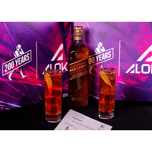 THEBAR.BOX:BOX HIGHBALL ALIVE COM JOHNNIE WALKER RED LABEL + COASTER DE LED -  EDIÇÃO LIMITADA ALOK