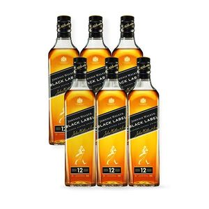 COMBO WHISKY JOHNNIE WALKER Black Label 750ml - 6 unidades