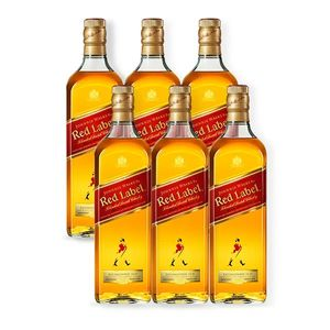 COMBO WHISKY JOHNNIE WALKER Red Label 1L - 6 unidades