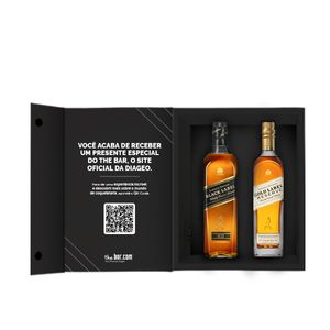 COMBO 1 WHISKY JW BLACK LABEL 750ML  + 1 WHISKY JW GOLD LABEL 750ML + CAIXA PARA PRESENTE